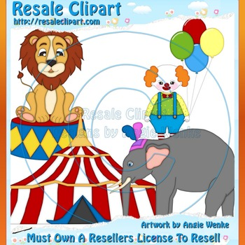 Circus Family 2 ClipArt - Commercial Use