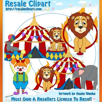 Circus Family 3 ClipArt - Commercial Use