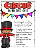 Circus Family Literacy and Math Game Night