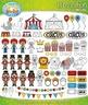 Circus Fun Clip Art Set — Includes 70 Graphics!
