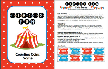 Circus Fun - Coin Counting Game