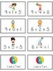 Circus Fun Fun Math Folder Game Adding Three 3 Addends Parts Common Core Aligned