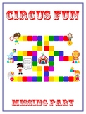 Circus Fun Fun Math Folder Game Find the Missing Part Addend Common Core Aligned