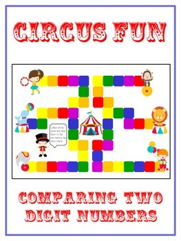Circus Fun Math Folder Game - Common Core - Comparing 2 Digit Numbers