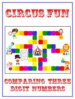 Circus Fun Math Folder Game - Common Core - Comparing 3 Digit Numbers