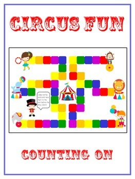 Circus Fun Math Folder Game - Common Core - Counting On From Number