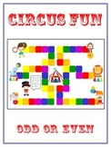 Circus Fun Math Folder Game - Common Core - Even and Odd Numbers