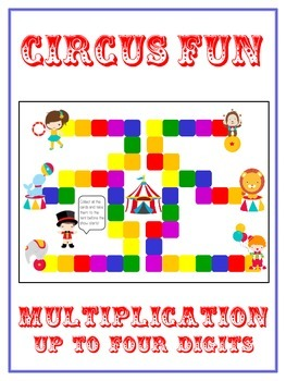 Circus Fun Math Folder Game - Common Core - Multiplication 1 2 3 4 Digits