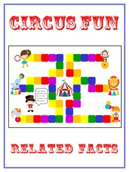 Circus Fun Math Folder Game - Common Core - Related Facts