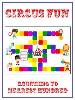 Circus Fun Math Folder Game - Common Core - Rounding to Nearest 100th
