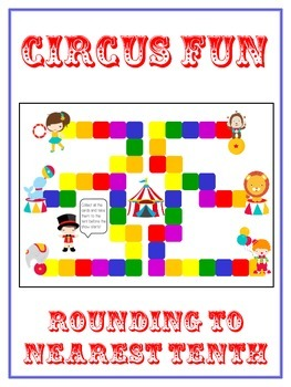 Circus Fun Math Folder Game - Common Core - Rounding to Nearest 10th