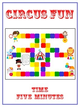 Circus Fun Math Folder Game - Common Core - Telling Time within 5 Minutes