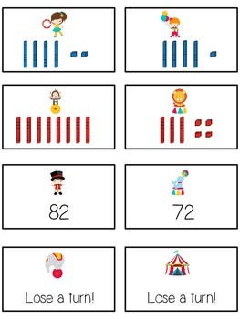 Circus Fun Math Folder Game - Common Core - Tens and Ones - Place Value