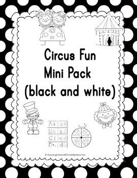 Circus Fun Mini Pack Black and White