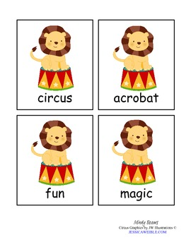 Circus Fun Pack - ABC Order, Write the Room, & Digraph Sort