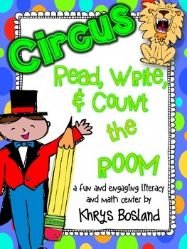 Circus Fun! Read, Write, and Count the Room {Literacy and Math Center} {CCSS}