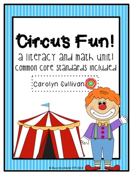 Circus Fun with Common Core Standards Included