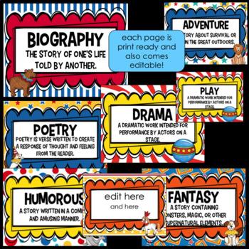 Genre Posters- Circus Theme