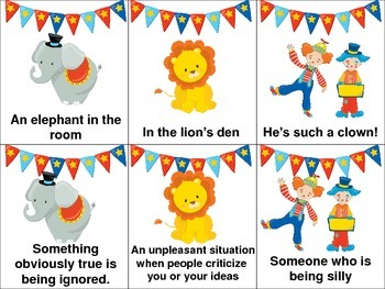 Circus Idioms Freebie!
