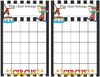 Circus Incentive Chart