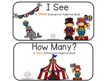 "Circus Interactive Adaptive books - set of 2 (""I See and ""How Many?)"
