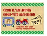 Speech Therapy: Circus Is/Are Activity