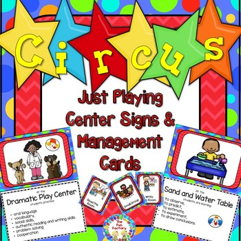 Circus–Just Playing Center Signs and Editable Management Cards