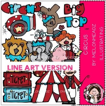Melonheadz: Circus clip art - LINE ART
