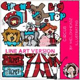 Circus clip art - LINE ART- by Melonheadz