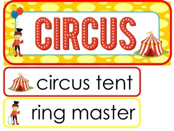 Circus Word Wall Weekly Theme Posters.