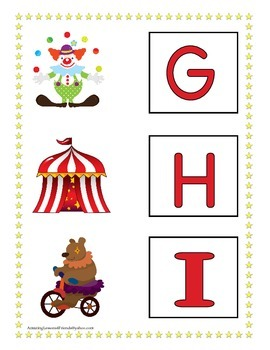 Circus Letter Matching Mats