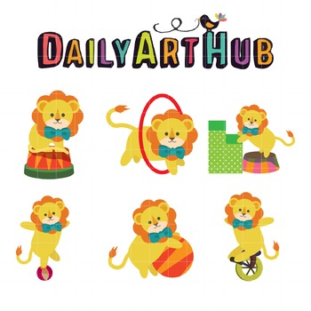 Circus Lion Clip Art - Great for Art Class Projects!