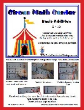 Circus Math Center - Addition 0 - 10 - Kinder Prep Math Ce