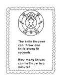 Circus Math Journal Pages/circus math word problems