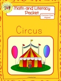 Circus Worksheets Emergent Reader Task Cards