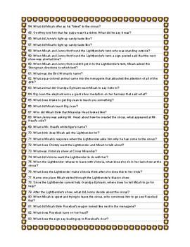 Circus Mirandus Quiz Questions