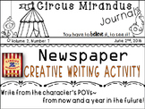 Circus Mirandus- Novel Study - by:Cassie Beasley- Creative Writing Activity