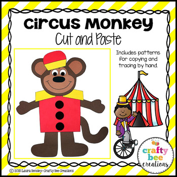 Circus Monkey Cut and Paste