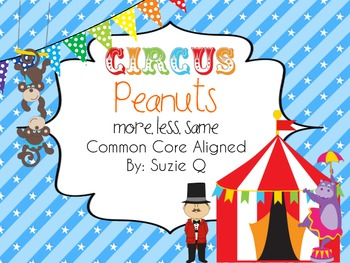 Circus More, Less, and Same Number Sense Common Core Aligned