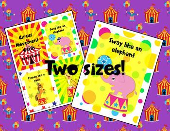 Circus Movement Cards for Preschool and Brain Break