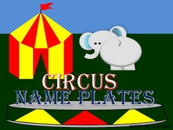 Circus Name Plates