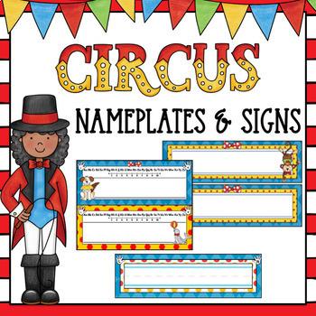 Circus Nameplates and Editable Classroom Signs