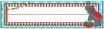 Circus Nameplates and Circus Tent Cubby Tags