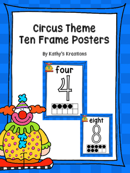 Circus Number Posters