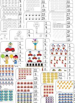 Circus Numbers 1-20 {Bundle}