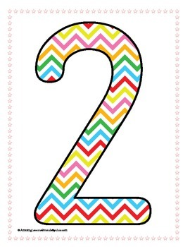 Circus Numbers 1 to 9 Posters and Large Cards