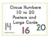 Circus Numbers 10 to 20 Posters and Cards