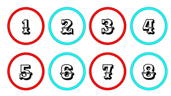 Circus Carnival Numbers/Classroom/Calendar