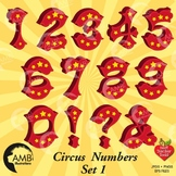 Circus Numbers Clipart, Carnival Clipart, {Best Teacher Tools} AMB-1035