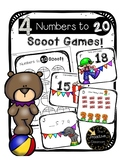 Circus Numbers to 20 Scoot Games: Expanded Form, Place Value, Patterns, MoreLess